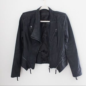 BLANK NYC Women's Faux Leather Jacket Black Small